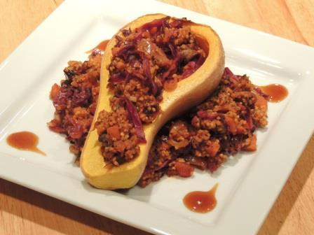 Meatless Mondays: Stuffed butternut squash